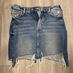 H&M blue denim mini skirt